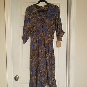Gorgeous Vintage Silk Floral French Dress!❤💋❤